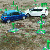 Pix4D software imagery of cars