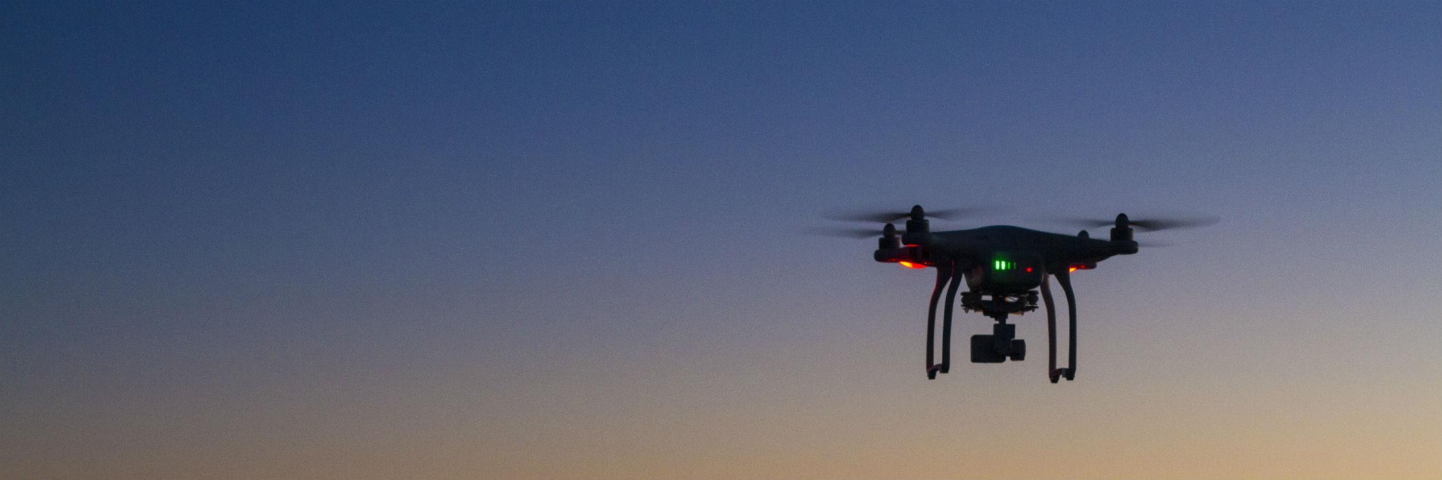 sUAS flying at dusk