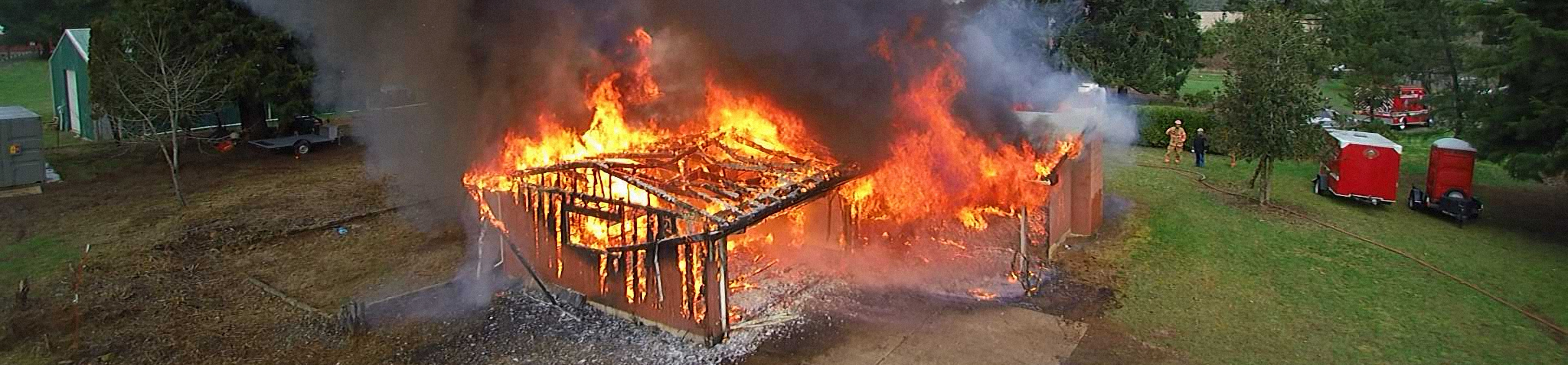 Using sUAS to observe structure engulfed in flames