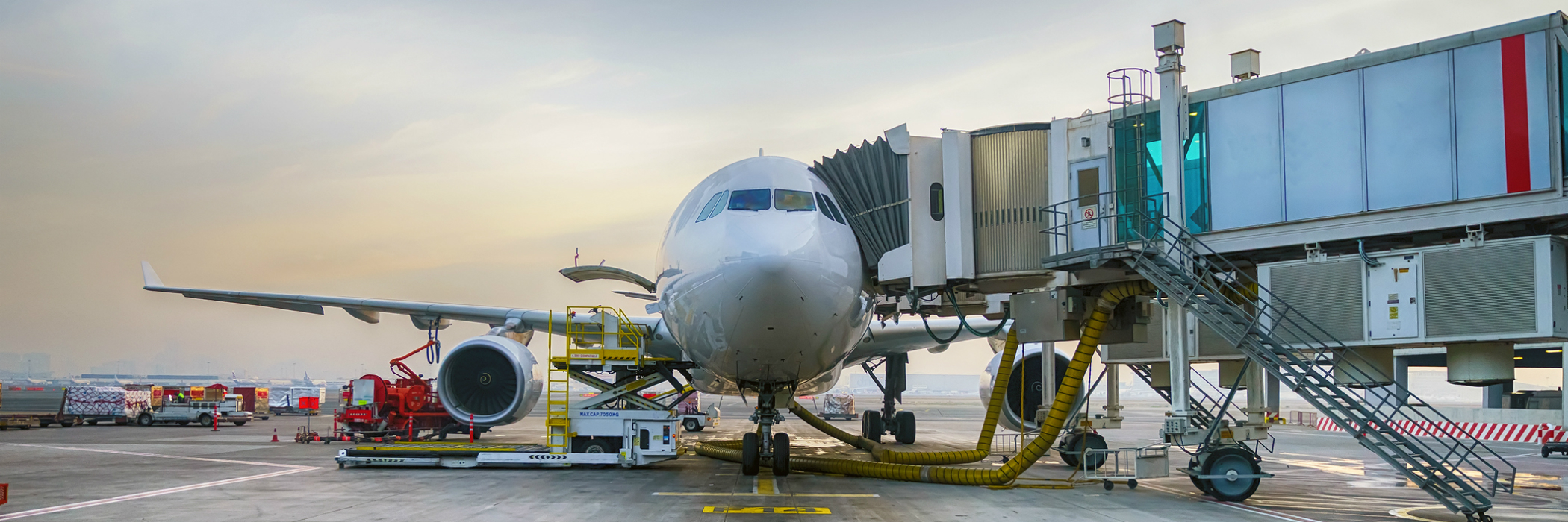 Airliner being prepared for flight