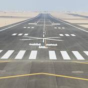 Empty desert runway