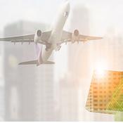 Airplane, jet bridge, and ground crew
