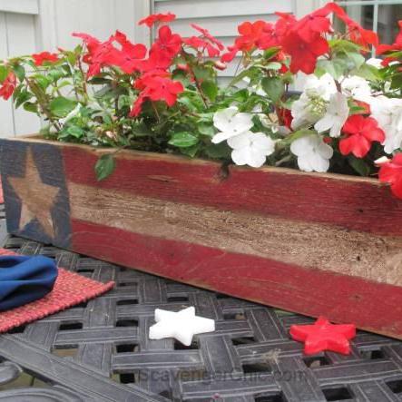 Patriotic Flower Pot Centerpiece Workshop