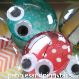 Buggles Refrigerator Magnets and Storage Jar