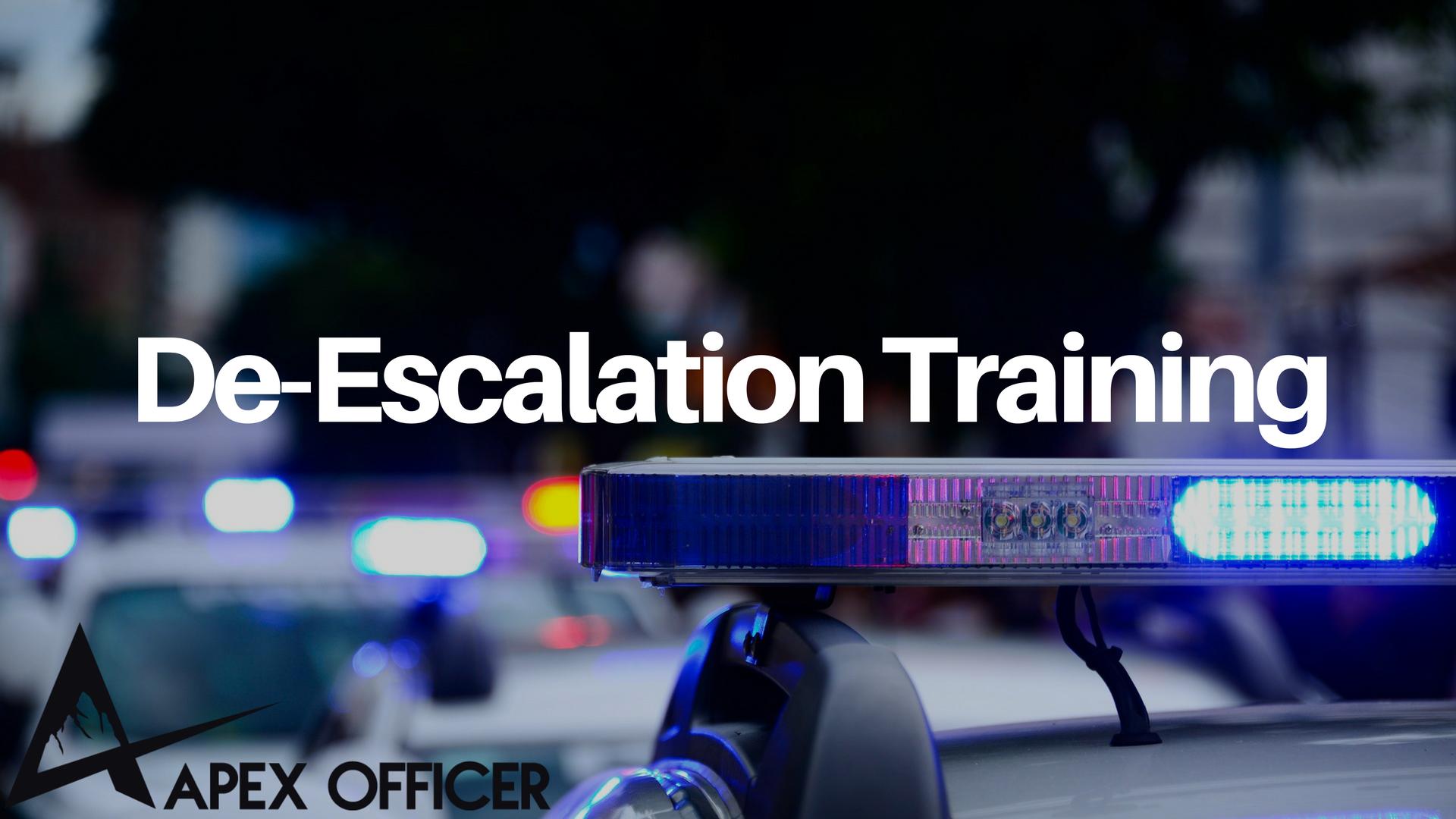 Officer De-Escalation Techniques